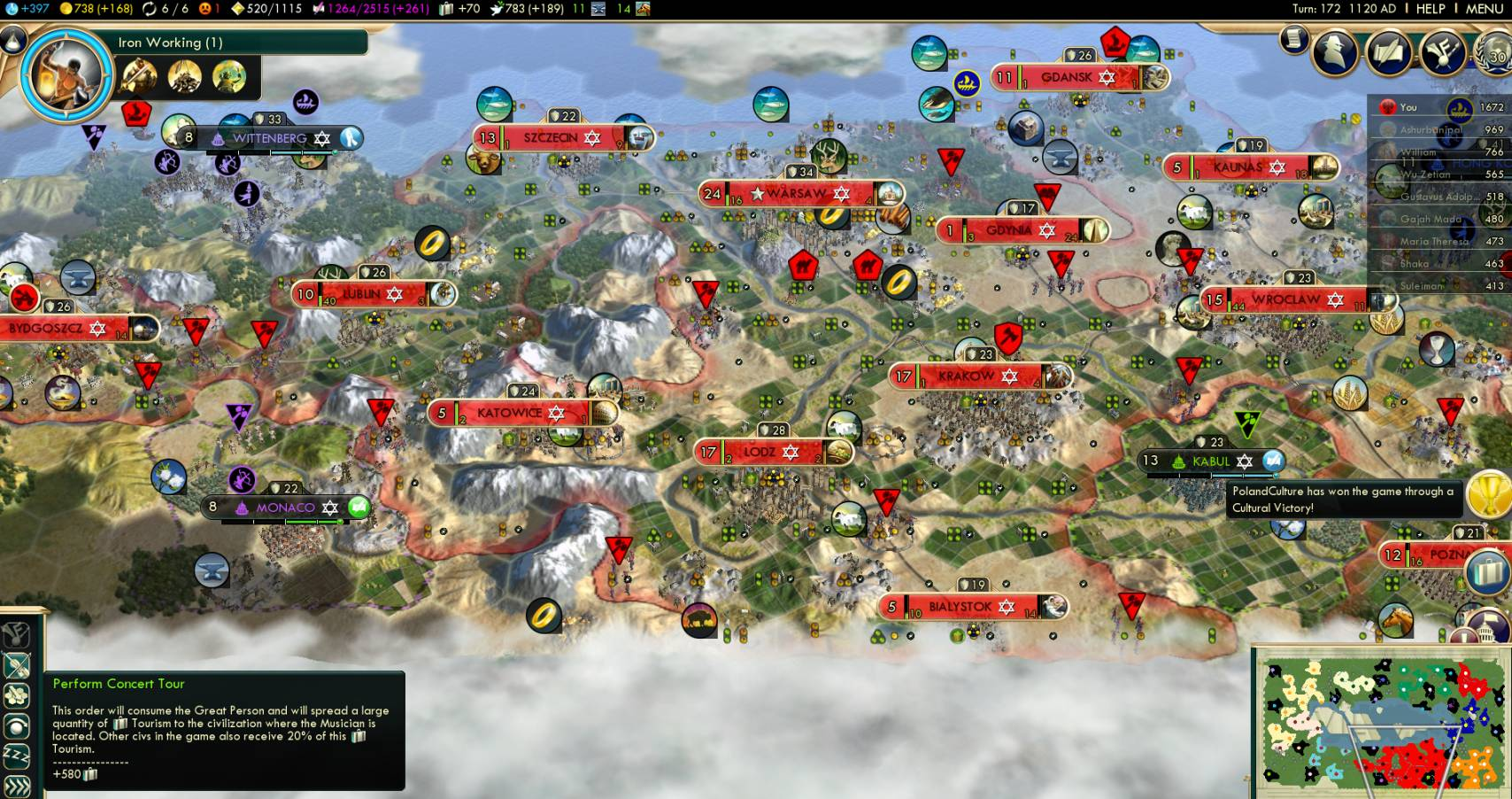 how to win culture victory civ 5